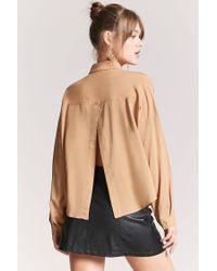 Forever 21 - Multicolor Women's Basic Woven Tulip-back Shirt - Lyst