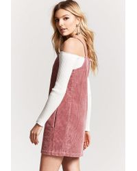 Forever 21 - Purple Corduroy Shift Dress - Lyst