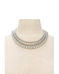Forever 21 | Metallic Beaded Layered Necklace | Lyst