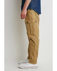 Forever 21 - Natural Twill Drawstring Cargo Pants for Men - Lyst