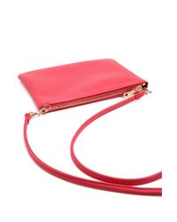 Forever 21 - Pink Textured Faux Leather Crossbody Bag - Lyst