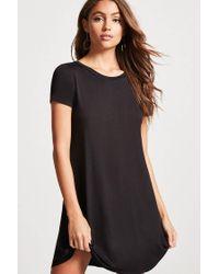 8ea791f567 Lyst - Forever 21 V-cutout T-shirt Dress in Black