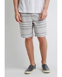 Forever 21 - Blue 's Mixed Stripe Shorts for Men - Lyst