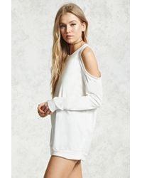 Forever 21 - White Open-shoulder Top - Lyst