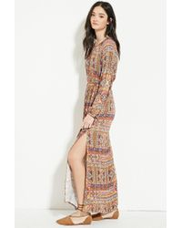 Forever 21 - Multicolor Abstract Tile Print Maxi Dress - Lyst