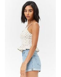Forever 21 - White Ditsy Floral Print Cami - Lyst