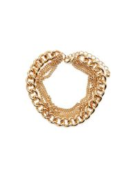 Forever 21 - Metallic Layered Curb Chain Bracelet - Lyst
