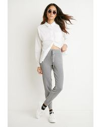 Forever 21 - Gray Ribbed Knit Pants - Lyst