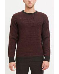 Forever 21 - Purple Popcorn Knit Sweater for Men - Lyst