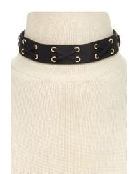 Forever 21 - Black Faux Suede Choker - Lyst