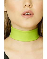 Forever 21 - Green Slub Knit Choker - Lyst