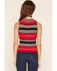 Forever 21 - Black Striped Knit Top - Lyst