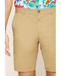 Forever 21 - Natural Woven Chino Shorts for Men - Lyst