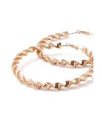 Forever 21 - Metallic Snake-chain Hoop Earrings - Lyst