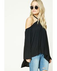 Forever 21 | Black Contemporary Open-shoulder Top | Lyst
