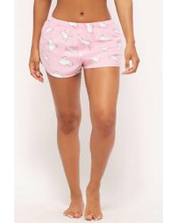 Forever 21 - Pink Women's Cat Pull-on Pyjama Shorts - Lyst