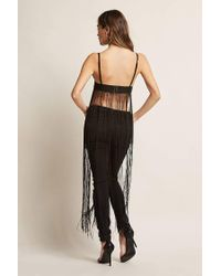 Forever 21 | Fringed Metallic Crop Cami | Lyst