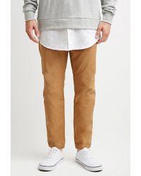 Forever 21 - Natural Drawstring Canvas Pants for Men - Lyst