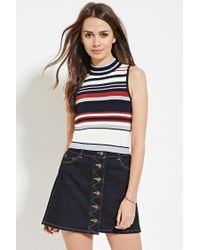 Forever 21 - Multicolor Contemporary Colorblock Top - Lyst
