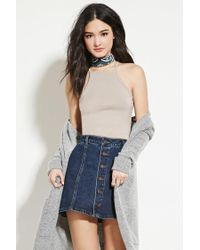 Forever 21 - Brown Racerfront Cami - Lyst