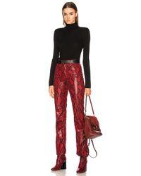 Chloé - Black Superfine Ribbed Knit Turtleneck Sweater - Lyst