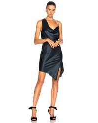 Michelle Mason - Blue Bias Cowl Neck Dress - Lyst