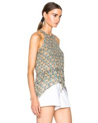10 Crosby Derek Lam - Blue - Printed Sleeveless Top - Women - Silk - 0 - Lyst