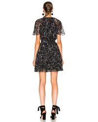 Lover - Black Tuberose Mini Dress - Lyst
