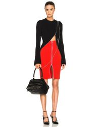 Givenchy - Black Bell Sleeve Zip Detail Sweater - Lyst