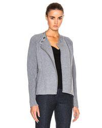 3.1 Phillip Lim - Gray Double Knit Moto Jacket - Lyst