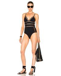 Zimmermann - Black Paradiso Bonded Lattice Swimsuit - Lyst
