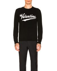 Valentino - Black Logo Sweater - Lyst