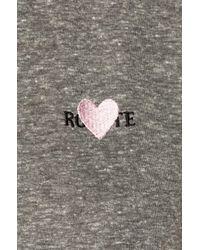 Rodarte - Gray Rohearte Embroidery Tee - Lyst