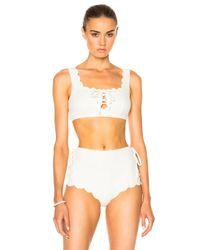 Marysia Swim | White Palm Springs Tie Bikini Top | Lyst