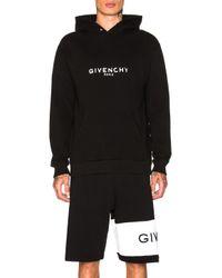 Givenchy - Black Logo Hoodie - Lyst
