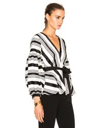 Alexis | Multicolor Sienna Striped V-neck Top | Lyst