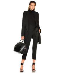 Ann Demeulemeester | Black Wool Viscose Coat | Lyst