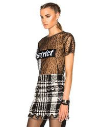 Alexander Wang - Black Lace Patch Top - Lyst