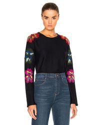 Chloé | Blue Flower Detail Sweater | Lyst