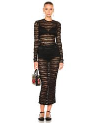 Dolce & Gabbana | Black Long Sleeve Lace Dress | Lyst