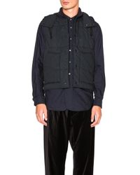 Engineered Garments - Blue Nyco Ripstop Primaloft Vest - Lyst