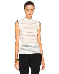 Erdem | Multicolor Ruffled Pointelle Knit Top | Lyst
