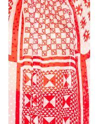 Fendi - Red Foulard Top - Lyst