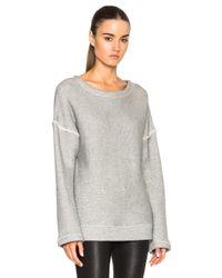 Helmut Lang | Gray Oversized Sweater | Lyst