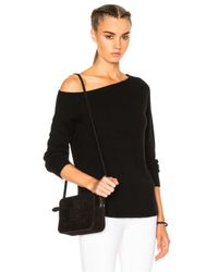 James Perse | Black Off Shoulder Cashmere Sweater | Lyst