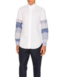 Loewe | White Patchwork Sleeve Shirt for Men | Lyst