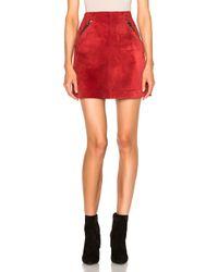 Loewe | Red Suede Skirt | Lyst