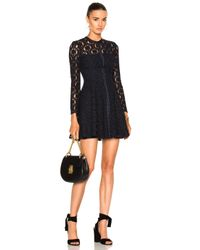 Lover | Blue Charlotte Fit And Flare Mini Dress | Lyst