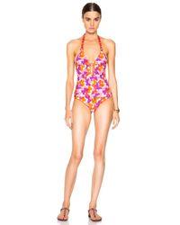 Missoni | Red V Neck Swimsuit | Lyst