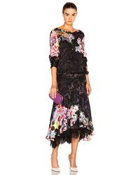 Preen By Thornton Bregazzi   Black Abigail Lace Hem Dress   Lyst